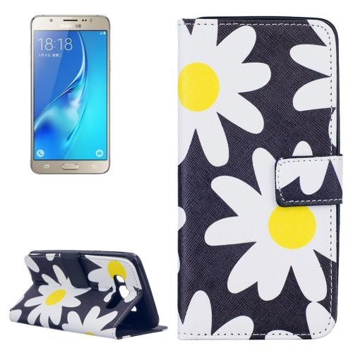 Buy For Samsung Galaxy J5, 2016 / J510 Daisy Pattern Horizontal Flip Leather Case with Holder & Card Slots & Wallet for $2.14 in SUNSKY store