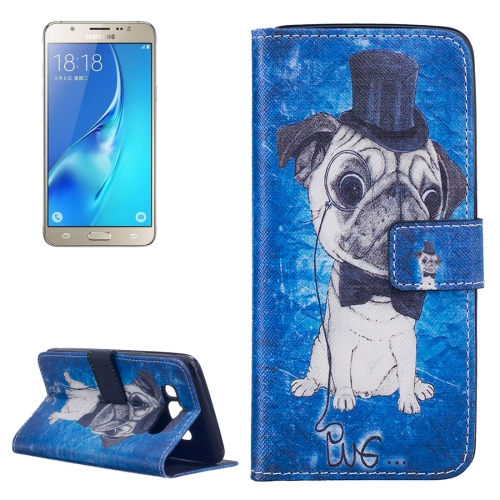 Buy For Samsung Galaxy J5, 2016 / J510 Dog Pattern Horizontal Flip Leather Case with Holder & Card Slots & Wallet for $2.14 in SUNSKY store
