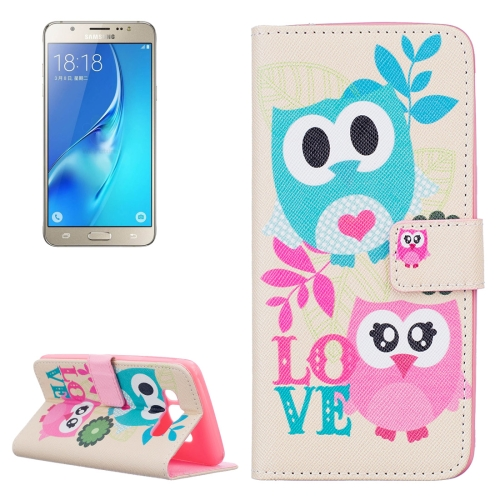 Buy For Samsung Galaxy J5, 2016 / J510 Owls Love Pattern Horizontal Flip Leather Case with Holder & Card Slots & Wallet for $2.14 in SUNSKY store
