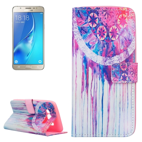 Buy For Samsung Galaxy J5, 2016 / J510 Colorful Dreamcatcher Pattern Horizontal Flip Leather Case with Holder & Card Slots & Wallet for $2.14 in SUNSKY store