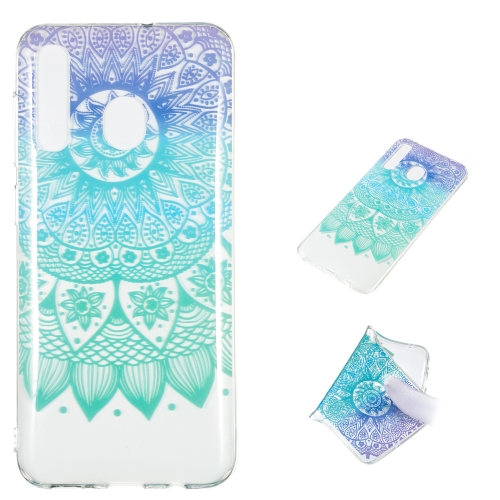 Datura Bell Pattern Highly Transparent TPU Protective Case for Galaxy A50