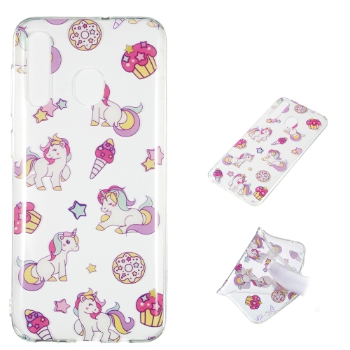 Unicorn Pattern Highly Transparent TPU Protective Case for Galaxy A50