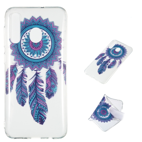 Blue Wind Chime Pattern Highly Transparent TPU Protective Case for Galaxy A50