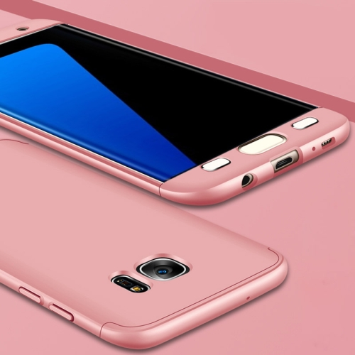 GKK for Galaxy S7 Edge PC Three - paragraph Shield 360 Degrees Full Coverage Protective Case Back Cover(Rose Gold) фото