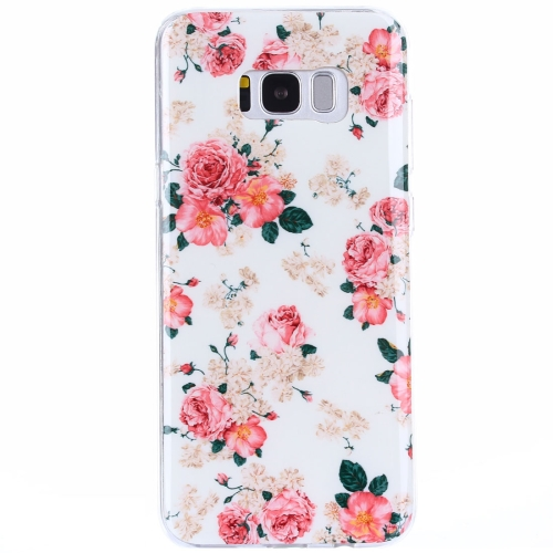 Buy For Samsung Galaxy S8 + / G955 Rose Pattern IMD Workmanship TPU Protective Back Cover Case for $1.20 in SUNSKY store