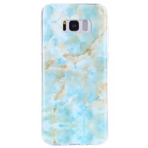 For Samsung Galaxy S8 + / G955 Emerald Green Marble Pattern IMD Workmanship TPU Protective Back Cover Case