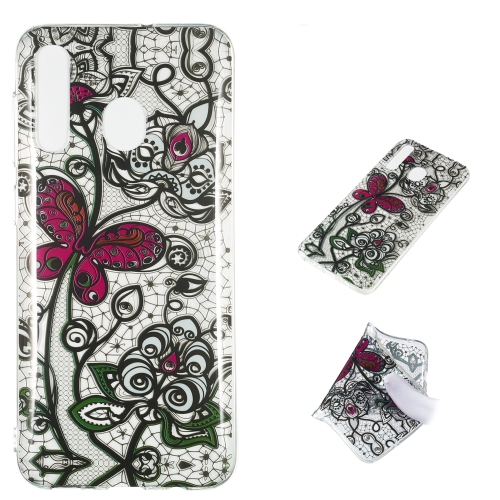 Pansy Pattern Highly Transparent TPU Protective Case for Galaxy A50