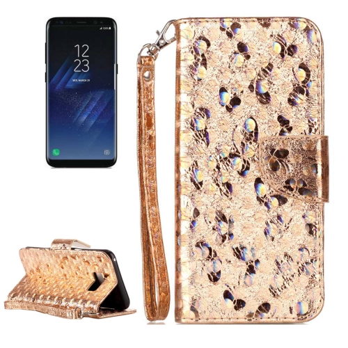 Buy For Samsung Galaxy S8 + / G955 Laser Butterfly Horizontal Flip Leather Case with Holder & Card Slots & Wallet, Gold for $2.84 in SUNSKY store