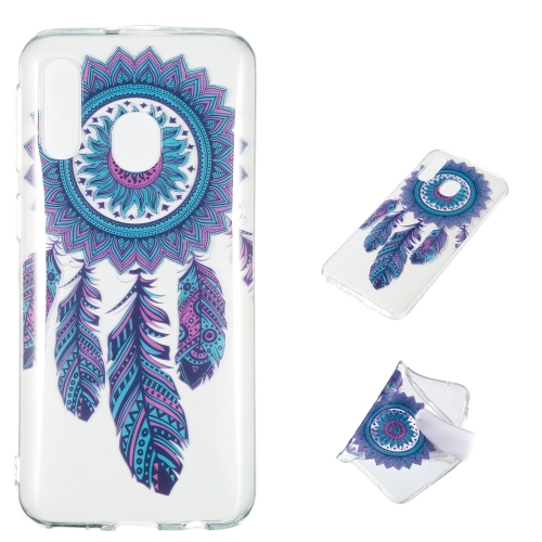Blue Wind Chime Pattern Highly Transparent TPU Protective Case for Galaxy A40