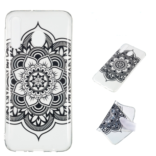 Datura Noir Pattern Highly Transparent TPU Protective Case for Galaxy M30