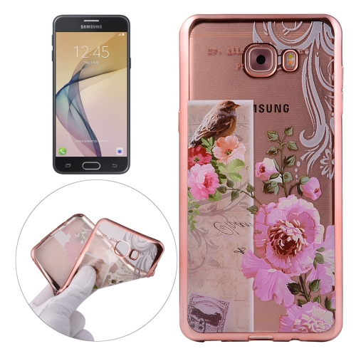 Buy For Samsung Galaxy J7 Prime Bird And Flower Pattern Electroplating Frame Soft TPU Protective Case for $1.90 in SUNSKY store