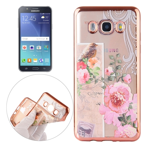 Buy For Samsung Galaxy J7 / J700 Bird And Flower Pattern Electroplating Frame Soft TPU Protective Case for $1.90 in SUNSKY store