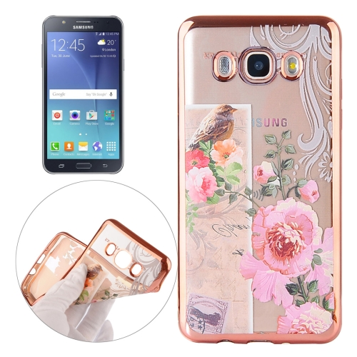 Buy For Samsung Galaxy J5 / J500 Bird And Flower Pattern Electroplating Frame Soft TPU Protective Case for $1.90 in SUNSKY store