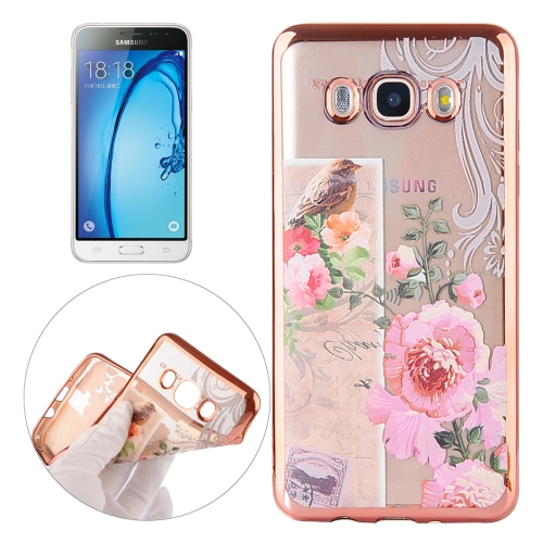 Buy For Samsung Galaxy J3 Bird And Flower Pattern Electroplating Frame Soft TPU Protective Case for $1.90 in SUNSKY store