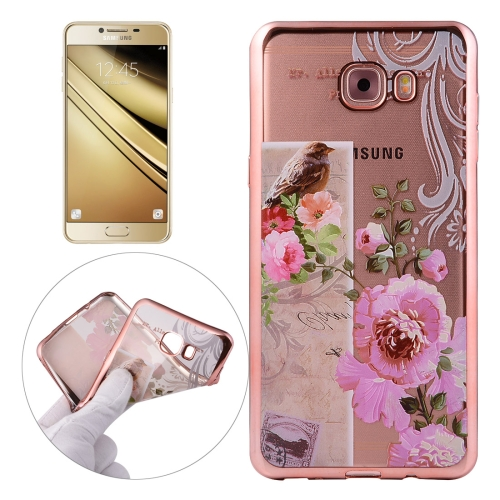 Buy For Samsung Galaxy C5 / C500 Bird And Flower Pattern Electroplating Frame Soft TPU Protective Case for $1.91 in SUNSKY store