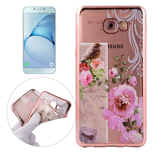 Buy For Samsung Galaxy A8, 2016 / A810 Bird And Flower Pattern Electroplating Frame Soft TPU Protective Case for $1.91 in SUNSKY store