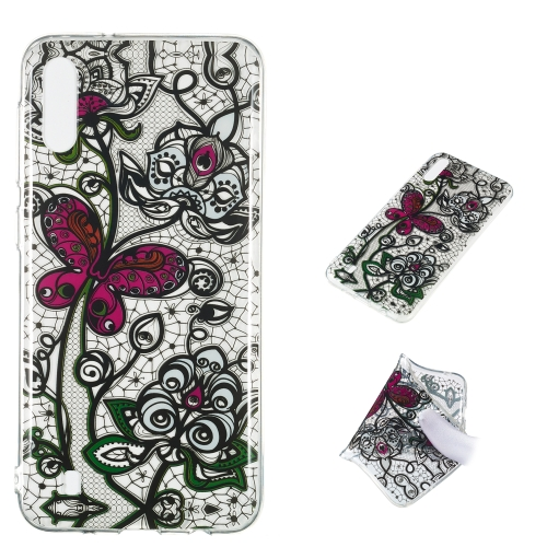 Pansy Pattern Highly Transparent TPU Protective Case for Galaxy M10