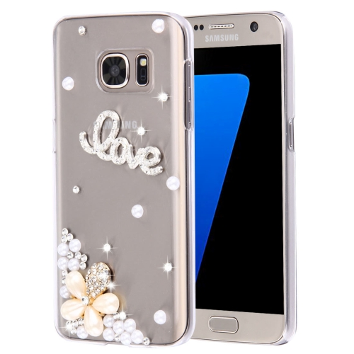Buy For Samsung Galaxy S7 Edge / G935 Diamond Encrusted Pearl Love Pattern Plastic Case for $2.06 in SUNSKY store