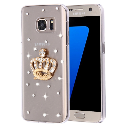 Buy For Samsung Galaxy S7 Edge / G935 Diamond Encrusted Pearl Crown Pattern Plastic Case for $2.06 in SUNSKY store