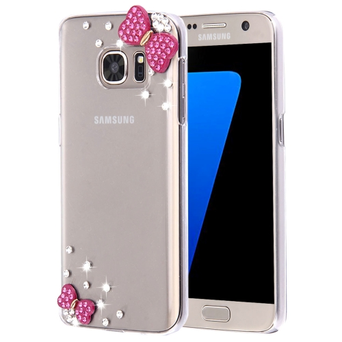 Buy For Samsung Galaxy S7 Edge / G935 Diamond Encrusted Pearl Bowknots Pattern Plastic Case for $2.06 in SUNSKY store