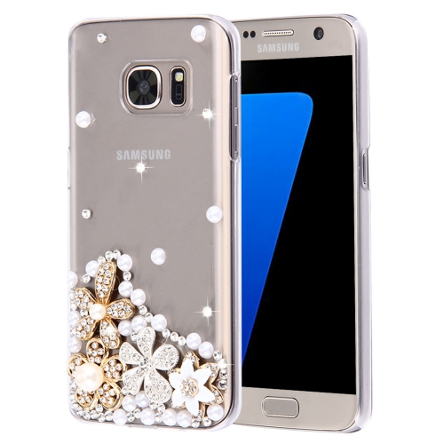 Buy For Samsung Galaxy S7 Edge / G935 Diamond Encrusted Pearl Flowers Pattern Plastic Case for $2.06 in SUNSKY store