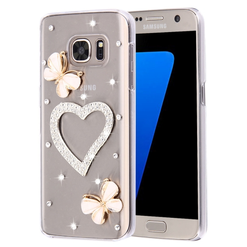 Buy For Samsung Galaxy S7 Edge / G935 Diamond Encrusted Pearl Heart Pattern Plastic Case for $2.06 in SUNSKY store