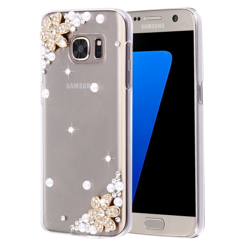 Buy For Samsung Galaxy S7 Edge / G935 Diamond Encrusted Flowers Pattern Plastic Case for $2.06 in SUNSKY store