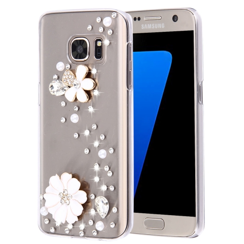 Buy For Samsung Galaxy S7 Edge / G935 Diamond Encrusted Pearl Flower Pattern Plastic Case for $2.06 in SUNSKY store