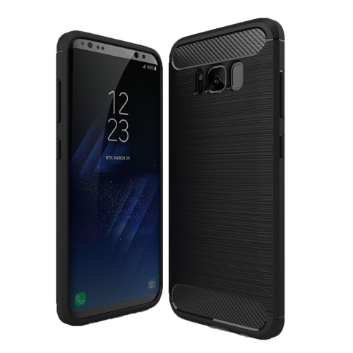 Фото For Samsung Galaxy S8 + / G955 Brushed Carbon Fiber Texture Shockproof TPU Protective Cover Case(Black). Купить в РФ