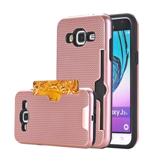 Buy For Samsung Galaxy J3, 2016 / J310 Dream Network Dropproof Protective Back Cover Case with Card Slots (Rose Gold) for $2.17 in SUNSKY store