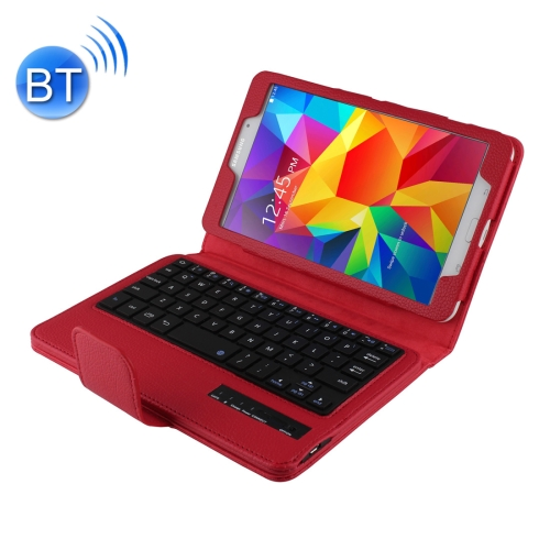 Buy For Samsung Galaxy Tab 4 8.0 / T330 Separable Litchi Texture Horizontal Flip Leather Case + Bluetooth Keyboard with Holder & Selfie Function, Red for $13.55 in SUNSKY store