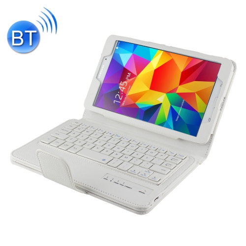 Buy For Samsung Galaxy Tab 4 8.0 / T330 Separable Litchi Texture Horizontal Flip Leather Case + Bluetooth Keyboard with Holder & Selfie Function, White for $13.55 in SUNSKY store