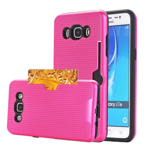 Buy For Samsung Galaxy J7, 2016 / J710 Dream Network Dropproof Protective Back Cover Case with Card Slots, Magenta for $2.17 in SUNSKY store