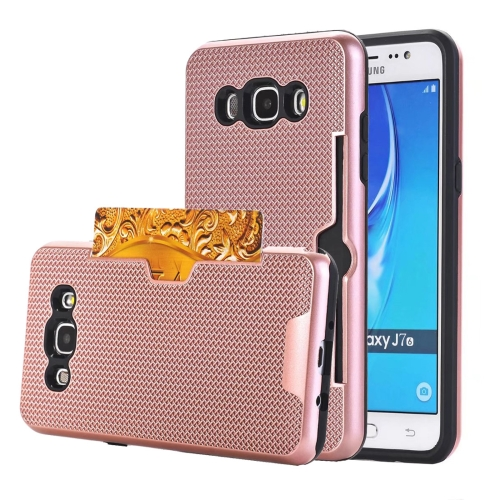 Buy For Samsung Galaxy J7, 2016 / J710 Dream Network Dropproof Protective Back Cover Case with Card Slots (Rose Gold) for $2.27 in SUNSKY store