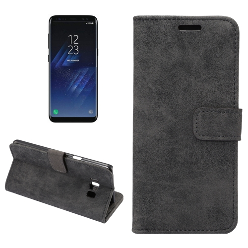 Buy For Samsung Galaxy S8 + / G955 Sheep Bar Material Horizontal Flip Leather Case with Holder & Card Slots & Wallet & Photo Frame, Black for $2.68 in SUNSKY store