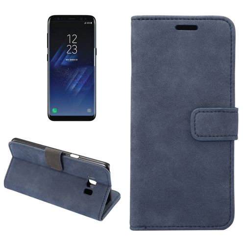 Buy For Samsung Galaxy S8 + / G955 Sheep Bar Material Horizontal Flip Leather Case with Holder & Card Slots & Wallet & Photo Frame (Dark Blue) for $2.58 in SUNSKY store