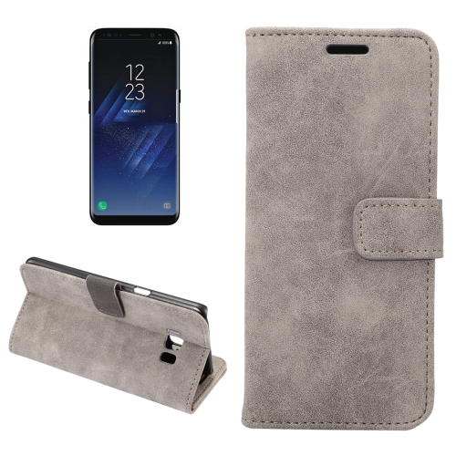 Buy For Samsung Galaxy S8 + / G955 Sheep Bar Material Horizontal Flip Leather Case with Holder & Card Slots & Wallet & Photo Frame, Grey for $2.68 in SUNSKY store