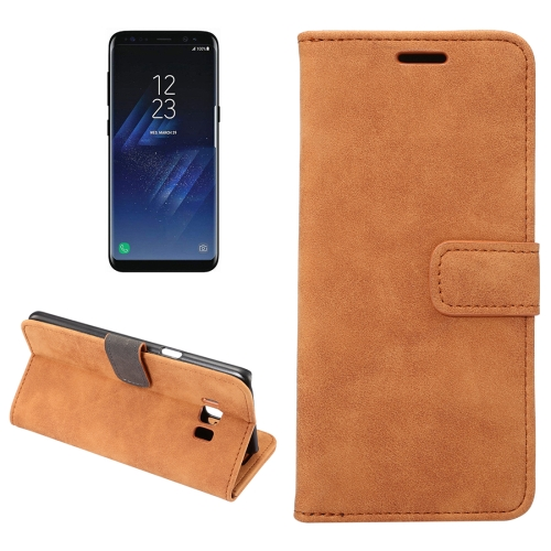 Buy For Samsung Galaxy S8 + / G955 Sheep Bar Material Horizontal Flip Leather Case with Holder & Card Slots & Wallet & Photo Frame, Brown for $2.68 in SUNSKY store