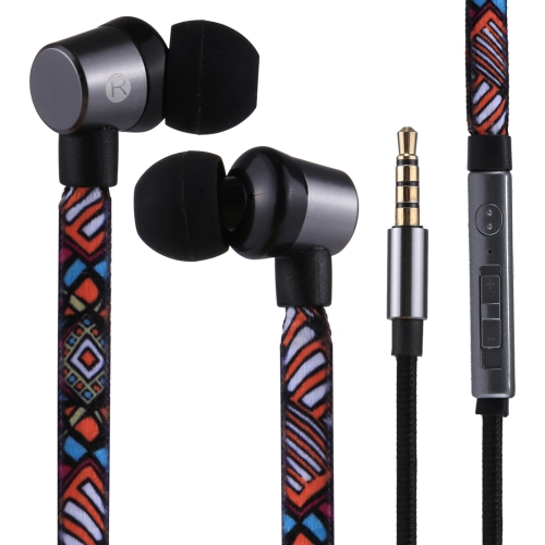 U-25 1.2m In-Ear Bass Stereo Wired the Lion Fashion Earphones with Mic, For iPhone, iPad, Galaxy, Huawei, Xiaomi, LG, HTC and Other Smartphones