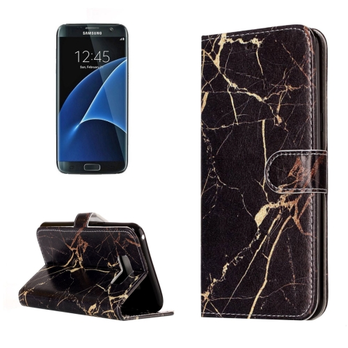 Buy For Samsung Galaxy S8 + / G955 Black Gold Marble Pattern Horizontal Flip Leather Protective Case with Holder & Card Slots & Wallet for $2.41 in SUNSKY store