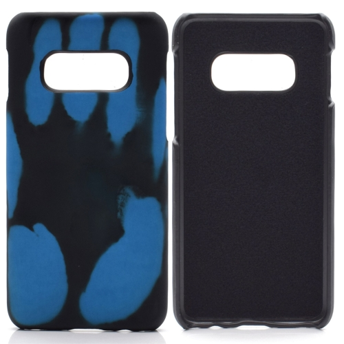 Paste Skin + PC Thermal Sensor Discoloration Case for Galaxy S10(Blue)
