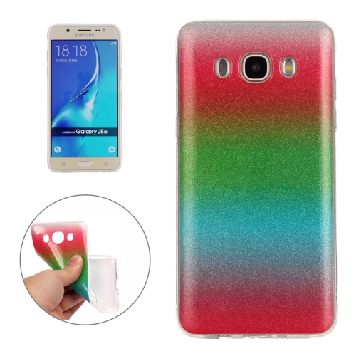 Buy For Samsung Galaxy J510 Fades Glitter Powder TPU Protective Case for $1.35 in SUNSKY store