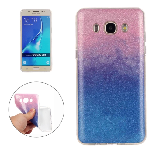 For Samsung Galaxy J510 Fades Glitter Powder TPU Protective Case