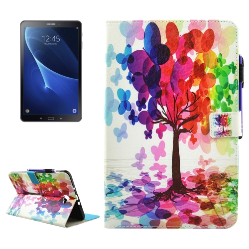 Buy For Samsung Galaxy Tab A 10.1, 2016 / T580 Butterfly Tree Pattern Horizontal Flip Leather Case with Holder & Wallet & Card Slots & Sleep / Wake-up Function & Pen Slot for $4.74 in SUNSKY store