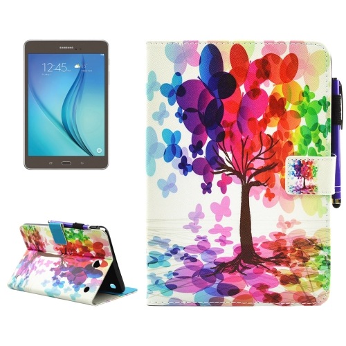 Buy For Samsung Galaxy Tab A 8.0 / T350 Butterfly Tree Pattern Horizontal Flip Leather Case with Holder & Wallet & Card Slots & Sleep / Wake-up Function & Pen Slot for $4.42 in SUNSKY store