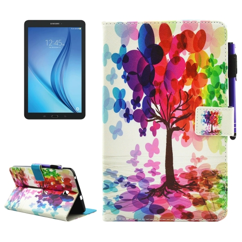 Buy For Samsung Galaxy Tab E 8.0 / T377 Butterfly Tree Pattern Horizontal Flip Leather Case with Holder & Wallet & Card Slots & Sleep / Wake-up Function & Pen Slot for $4.42 in SUNSKY store