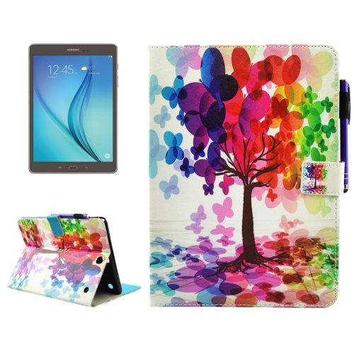 Buy For Samsung Galaxy Tab A 9.7 / T550 Butterfly Tree Pattern Horizontal Flip Leather Case with Holder & Wallet & Card Slots & Sleep / Wake-up Function & Pen Slot for $4.74 in SUNSKY store