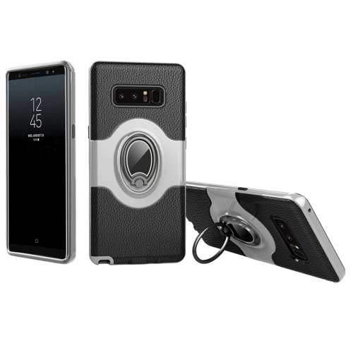 Buy For Samsung Galaxy Note 8 Dropproof Full Coverage Protective Case Cover with Magnetic Rotatable Ring Holder, White for $2.66 in SUNSKY store