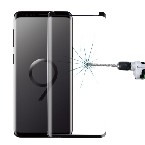 For Galaxy S9 9H Surface Hardness 3D Curved Edge Anti-scratch Non-full Screen HD Tempered Glass Screen Protector(Black) фото