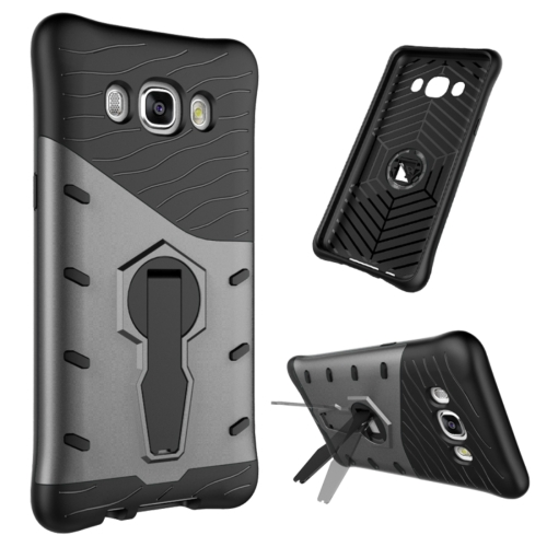 Buy For Samsung Galaxy J5, 2016 / J510 Shock-Resistant 360 Degree Spin Tough Armor TPU+PC Combination Case with Holder, Black for $2.44 in SUNSKY store
